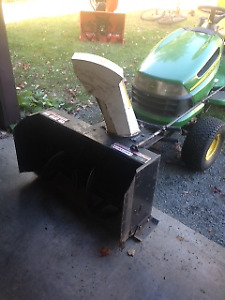 Selling a snowblower attachment for a sit on tractor.