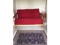Acorn -2 Seater Birch Double Sofa Bed with Futon Cover in perfect conditions LIKE NEW