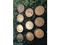 Selection of half pennies - Victorian through to 1965 for sale  Dundee