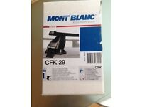 Mont blanc roof bars and CFK 29 fitting kit