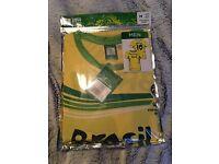 Brazil replica 2014 shirt new small size
