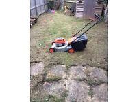 petrol lawnmower flymo 4 stroke with grass box
