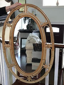 Oval Rattan Mirror - Price Reduced!