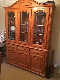 Cherry Wood Gl Display Cabinet