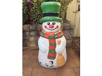 blow mould snowman
