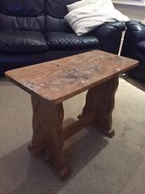 Small Solid Wooden Bench