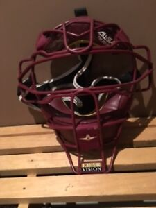 Allstar Catchers Mask Burgundy Brand New