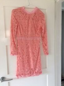 Teen party dress - size 4 Rose gold lace dress