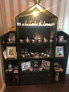 Black ash living room unit