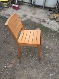 Set of 17 Beech Chairs