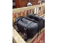 Motorcycle panniers leather