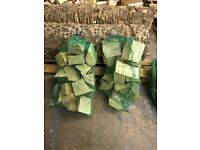 Professionally dried hardwood logs large bags