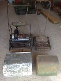 Old lawn mowers
