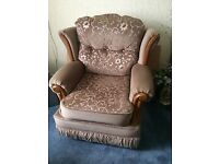 PRICE REDUCED , immaculate arm chair , has fire safe label still attached