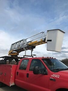 bucket truck 2003 ford diesel f450 with remote control boom