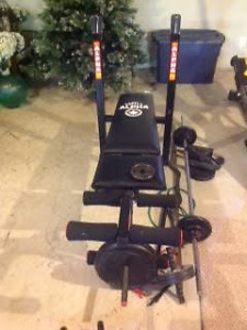 Bench Weight set with weights
