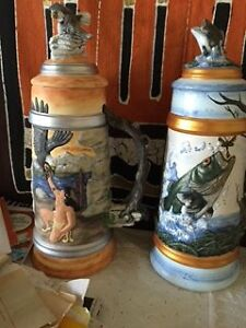 Hand painted steins