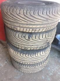 5 Stud steel wheels with tyres