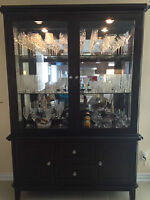 SALLE A MANGER TABLE CRISTALLIER / DINING ROOM SET TABLE BUFFET
