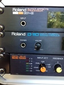 Roland Rack Effects and Yorkville 200K Mixer Amp