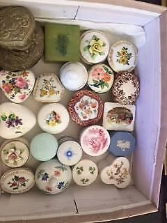 20 Fine Bone China Trinket Boxes (Can Store Rings)