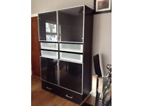Ikea Besta Storage and display Cabinet in black-brown finish