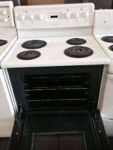 "24"" White Electric Coil Top Stove"