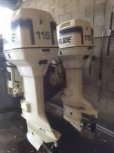 Evinrude Ocean Pro x 2 115 HP Coles Bay Glamorgan Area Preview