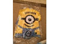 Minion swimming top and shorts (age 7 to 8) brand new smoke and pet free