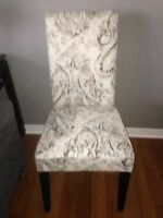 Fully Upholstered BRAND NEW dining chairs (2)