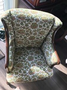 Vintage Wingback Chair Cambridge Kitchener Area image 3