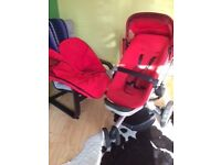 Quinny Buzz pushchair with cozy toes and rain cover