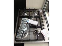 BEKO STAINLESS STEEL 5 BURNER GAS HOB NEW NO BOX 12 MTH GTEE rrp £199