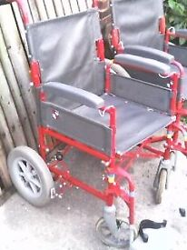 STURDY WHEELCHAIR [ WHEEL CHAIR ] FOLDS DOWN FOR STORAGE - HAROLD ROAD , CLACTON ON SEA CO15 6AJ