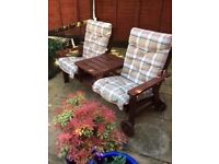 Garden seat/ table/ cushions