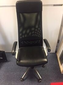 OFFICE EXECUTIVE LEATHER BLACK CHAIR