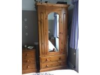Pine wardrobes. Solid, great quality. Matching pieces available