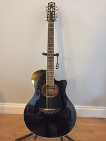 Yamaha 12 string electro acoustic with hard case, both as new