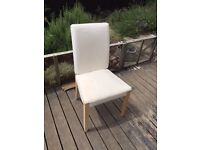 6 x Ikea HENRIKSDAL dining chairs with covers