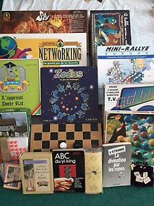 jeux, jouets vintage,barby picine,carte hockey,20 toutou,livres