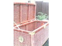 "WICKER CHEST / TRUNK / COFFEE TABLE / STORAGE - 34"" x 17"" + 15"" height * CLACTON CO15 6AJ"