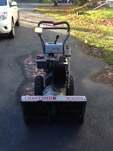 Selling a 10/29 Craftsman snowblower, works well