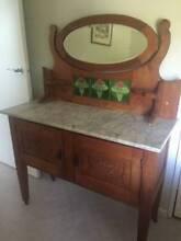Antique Silky Oak wash Stand Somerville Mornington Peninsula Preview