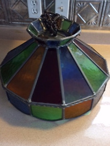Beautiful stained glass hanging lamp