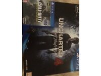Sony playstation 4 Uncharted 4 with call of duty infinate warfare