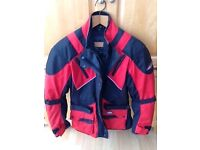 L/ M Textile Motorcycle Jacket with Armour