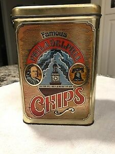 Tin   :   Famous Philadelphia Chips Lithography Tin