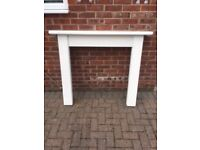 White Wooden Fire Place Surround