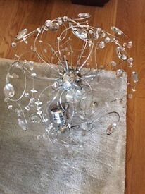 Contemporary crystal light fitting
