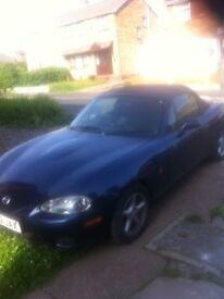 Mazda MX5 blue good stereo tested nice summer cheap car